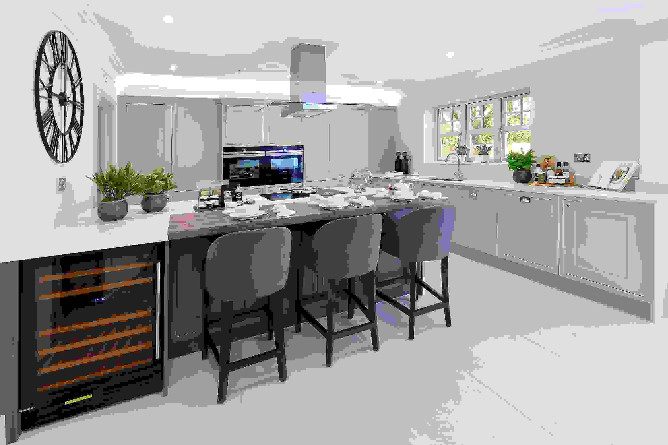 Family Shaker Style Kitchen