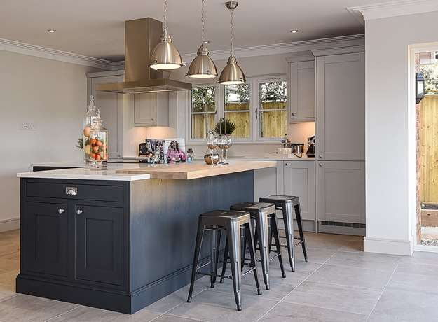 Charcoal & Dove Grey Classic Kitchen