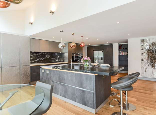 Contemporary Kitchen for Entertaining, Berkshire